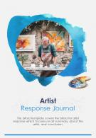 Bifold Artist Response Journal Document Report PDF PPT Template One Pager