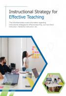 Bifold Instructional Strategy For Effective Teaching Document Report PDF PPT Template One Pager