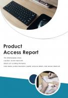 Bifold Product Access Report Document PDF PPT Template One Pager