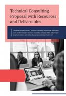Bifold Technical Consulting Proposal With Resources And Deliverables PDF PPT Template One Pager