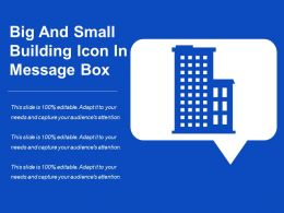 Big And Small Building Icon In Message Box