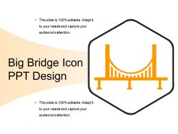 Big Bridge Icon Ppt Design