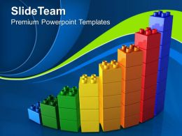 Big Building Blocks Powerpoint Templates Lego Bar Graph Success Chart Ppt Slides