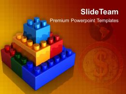 Big Building Blocks Powerpoint Templates Lego Construction Teamwork Ppt Layouts