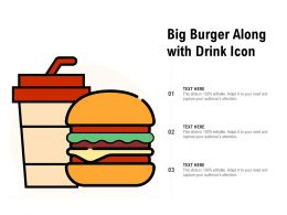 Big Burger Along With Drink Icon