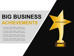 Big Business Achievements Example Of Ppt Presentation