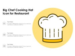 Big Chef Cooking Hat Icon For Restaurant