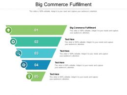 Big Commerce Fulfillment Ppt Powerpoint Presentation Infographics Grid Cpb