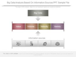 Big Data Analysis Based On Information Sources Ppt Sample File