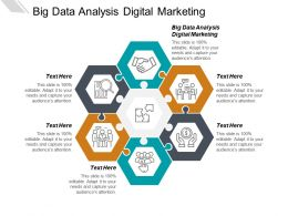 Big Data Analysis Digital Marketing Ppt Powerpoint Presentation Ideas Graphics Cpb