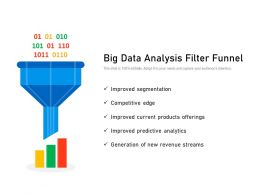 Big Data Analysis Filter Funnel