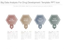Big Data Analysis For Drug Development Template Ppt Icon
