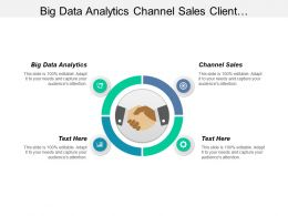 Big Data Analytics Channel Sales Client Management Experience Cpb