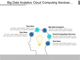 Big Data Analytics Cloud Computing Services Integrated Marketing Campaign Cpb