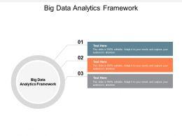 Big Data Analytics Framework Ppt Powerpoint Presentation Infographic Template Portfolio Cpb