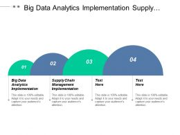 Big Data Analytics Implementation Supply Chain Management Implementation Cpb