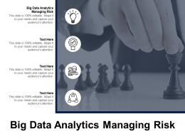 Big Data Analytics Managing Risk Ppt Powerpoint Presentation Gallery Picture Cpb