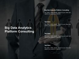 Big Data Analytics Platform Consulting Ppt Powerpoint Presentation Outline Cpb