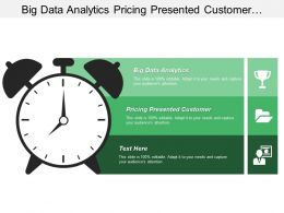 Big Data Analytics Pricing Presented Customer Market Segmentation