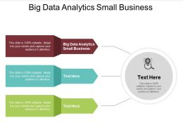 Big Data Analytics Small Business Ppt Powerpoint Presentation Styles Gridlines Cpb
