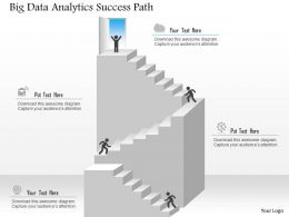 Big Data Analytics Success Path Ppt Slides
