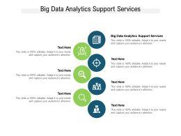 Big Data Analytics Support Services Ppt Powerpoint Presentation Gallery Skills Cpb