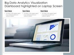 Big Data Analytics Visualization Dashboard Highlighted On Laptop Screen