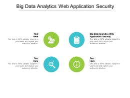 Big Data Analytics Web Application Security Ppt Layouts Background Images Cpb