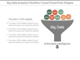 Big Data Analytics Workflow Funnel Powerpoint Shapes