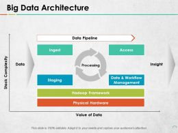 Big Data Architecture Data Pipeline Ingest Access Insight Processing