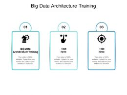 Big Data Architecture Training Ppt Powerpoint Presentation Icon Brochure Cpb