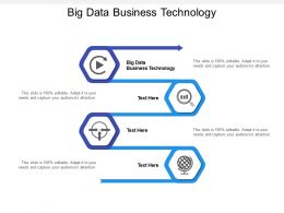 Big Data Business Technology Ppt Powerpoint Presentation File Examples Cpb