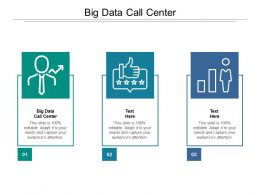 Big Data Call Center Ppt Powerpoint Presentation Pictures Background Cpb