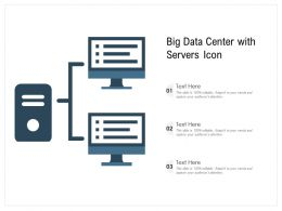 Big Data Center With Servers Icon
