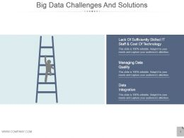 Big Data Challenges And Solutions Powerpoint Shapes