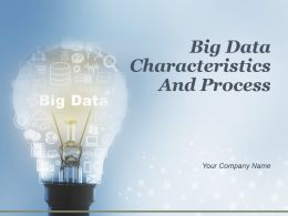 Big Data Characteristics And Process Powerpoint Presentation Slides