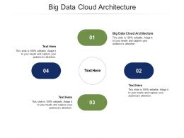 Big Data Cloud Architecture Ppt Powerpoint Presentation Gallery Graphics Download Cpb