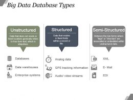 Big Data Database Types Example Ppt Presentation