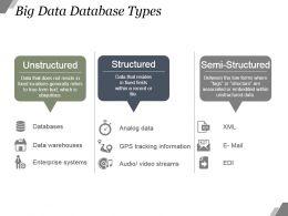 Big Data Database Types Example Ppt Presentation