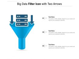 Big Data Filter Icon With Two Arrows