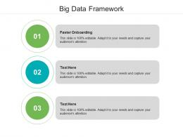 Big Data Framework Ppt Powerpoint Presentation Show Template Cpb