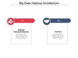 Big Data Hadoop Architecture Ppt Powerpoint Presentation Portfolio Skills Cpb