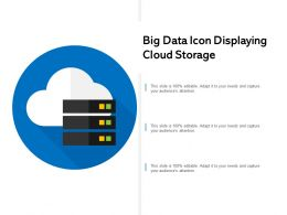 Big Data Icon Displaying Cloud Storage