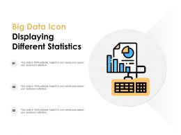 Big Data Icon Displaying Different Statistics
