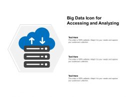 Big Data Icon For Accessing And Analyzing