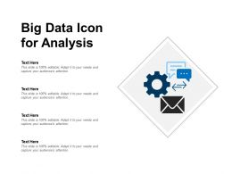 Big Data Icon For Analysis