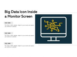 Big Data Icon Inside A Monitor Screen
