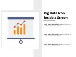 Big Data Icon Inside A Screen