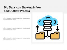 Big Data Icon Showing Inflow And Outflow Process