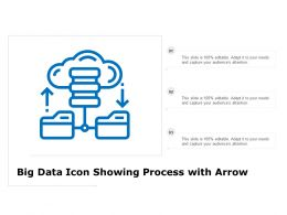 Big Data Icon Showing Process With Arrow